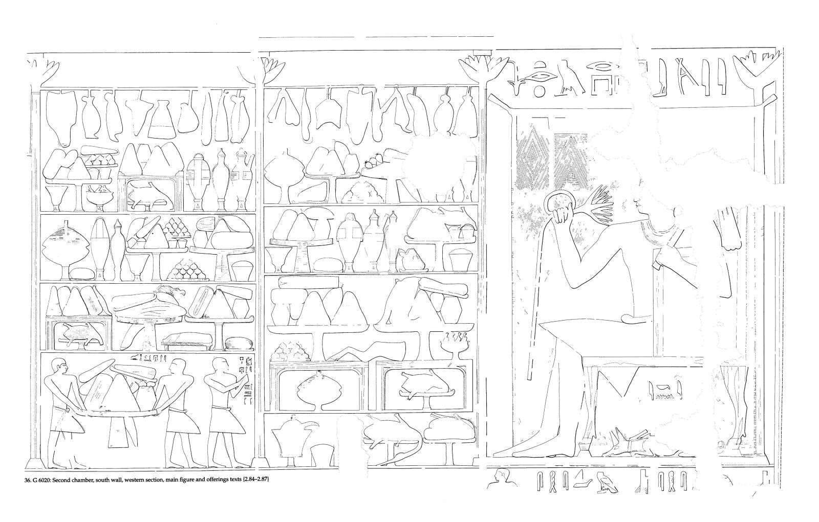 Drawings: G 6020: relief from second chamber, S wall, W section