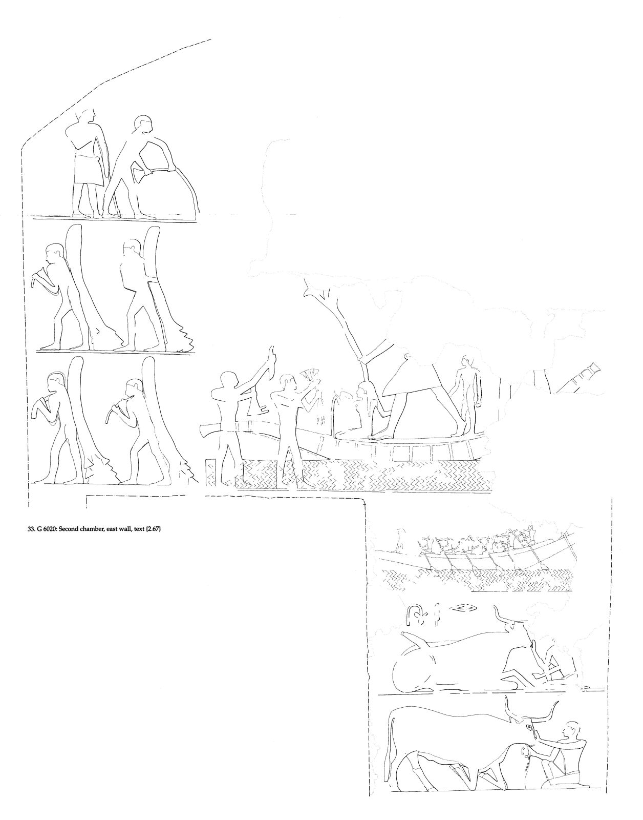 Drawings: G 6020: relief from second chamber, E wall