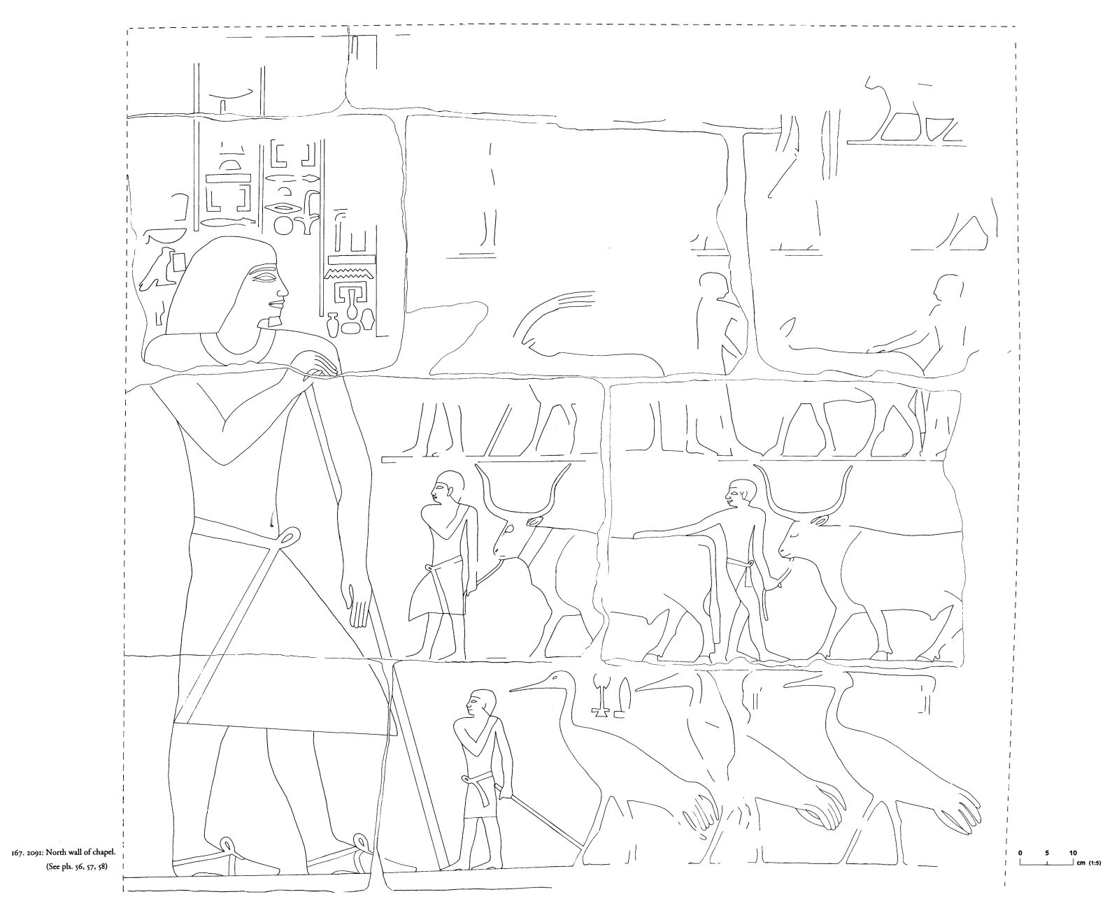 Drawings: G 2091: relief from chapel, N wall