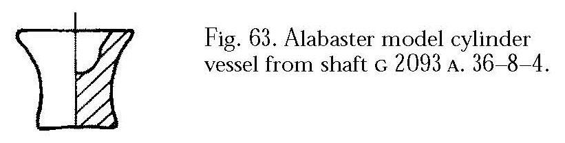 Drawings: G 2093, Shaft A: model vessel, alabaster