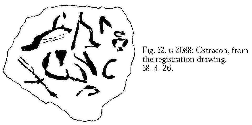 Drawings: G 2088: ostracon, limestone, inscribed