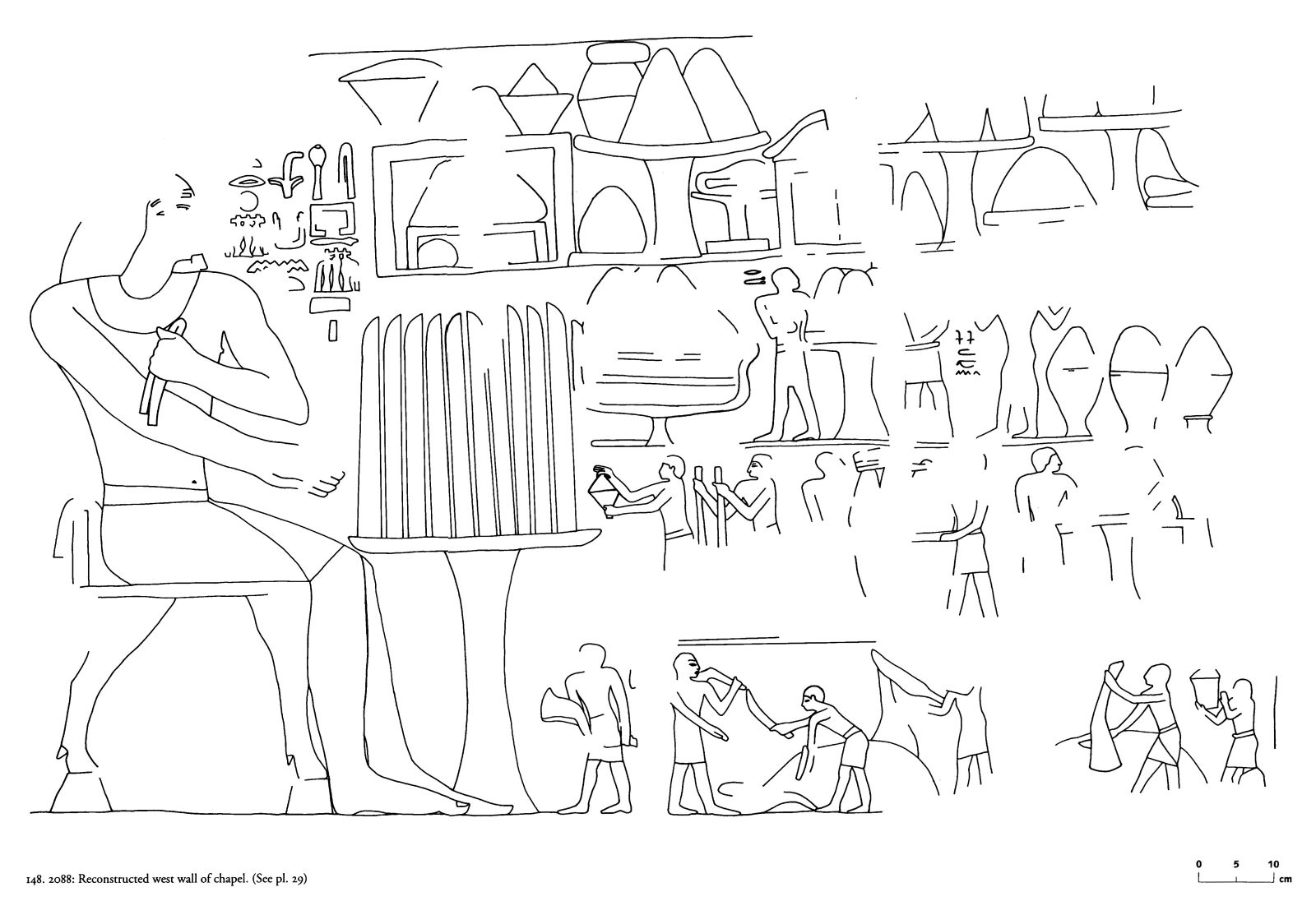 Drawings: G 2088: relief from chapel, W wall