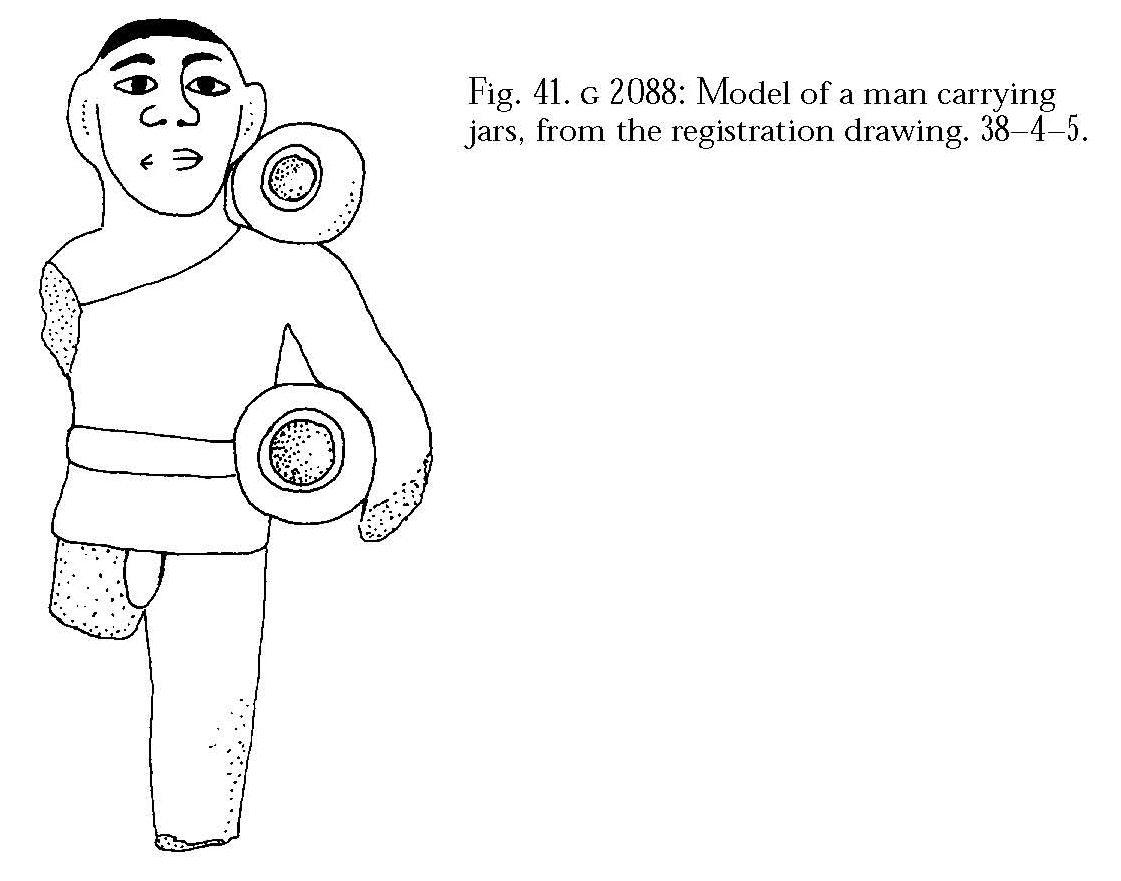 Drawings: G 2088: model figure (serving statue)