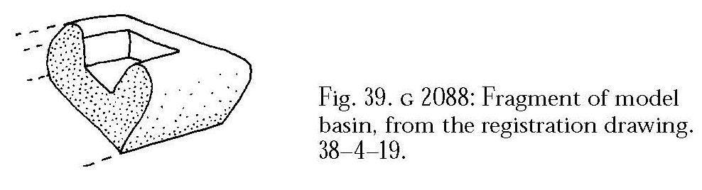Drawings: G 2088: model basin fragment