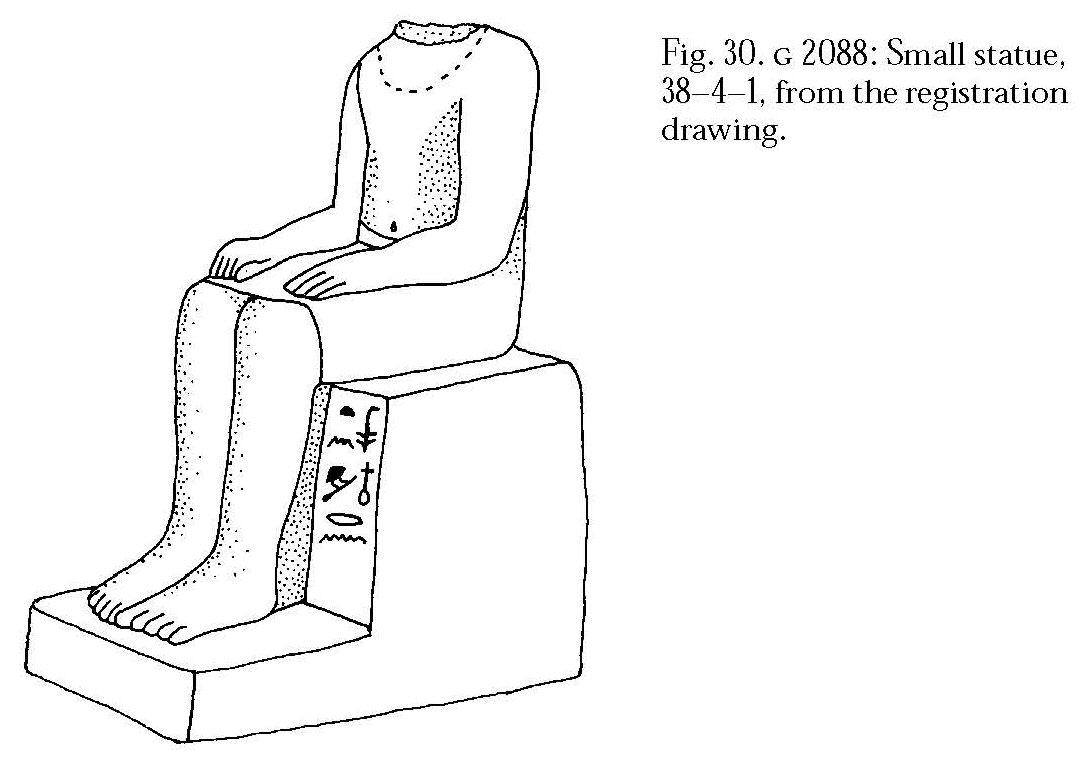 Drawings: G 2088: statuette