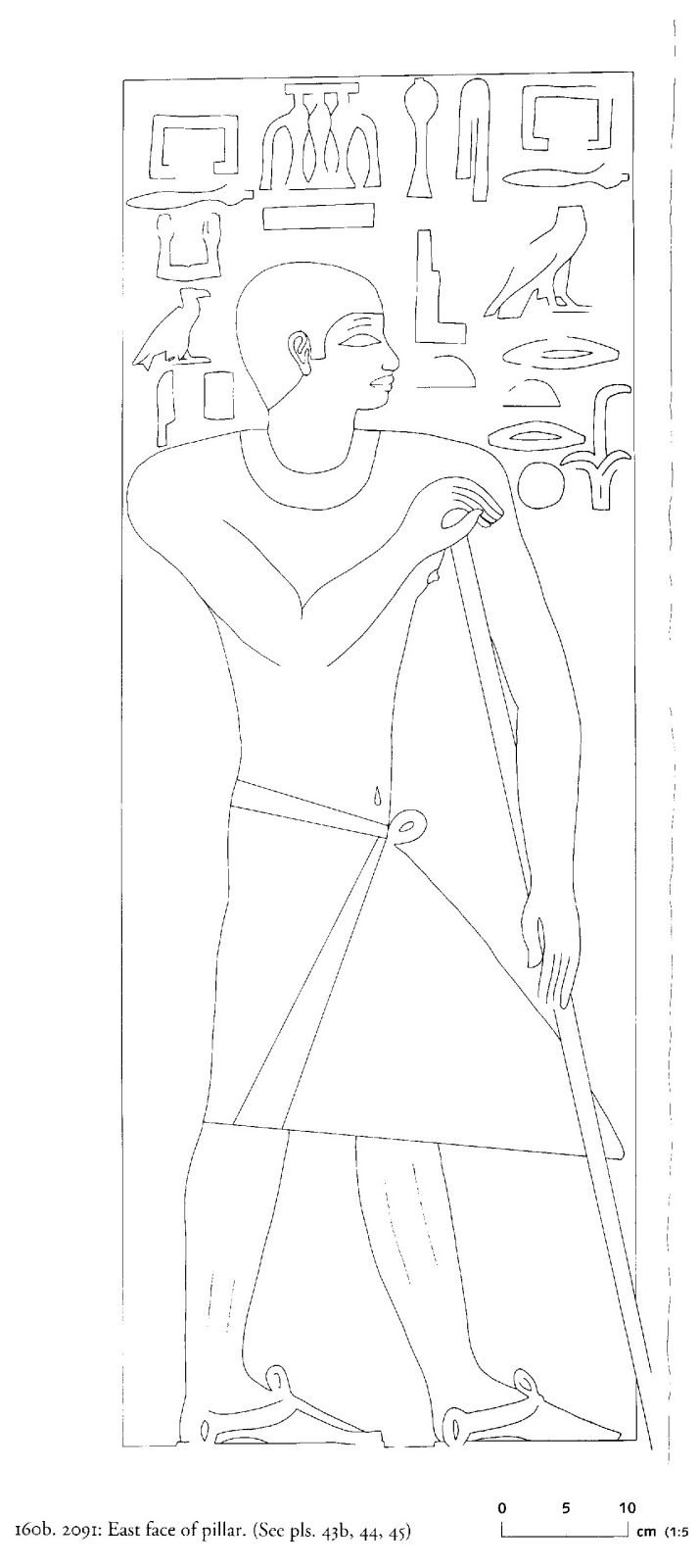 Drawings: G 2091: relief from pillar, E face