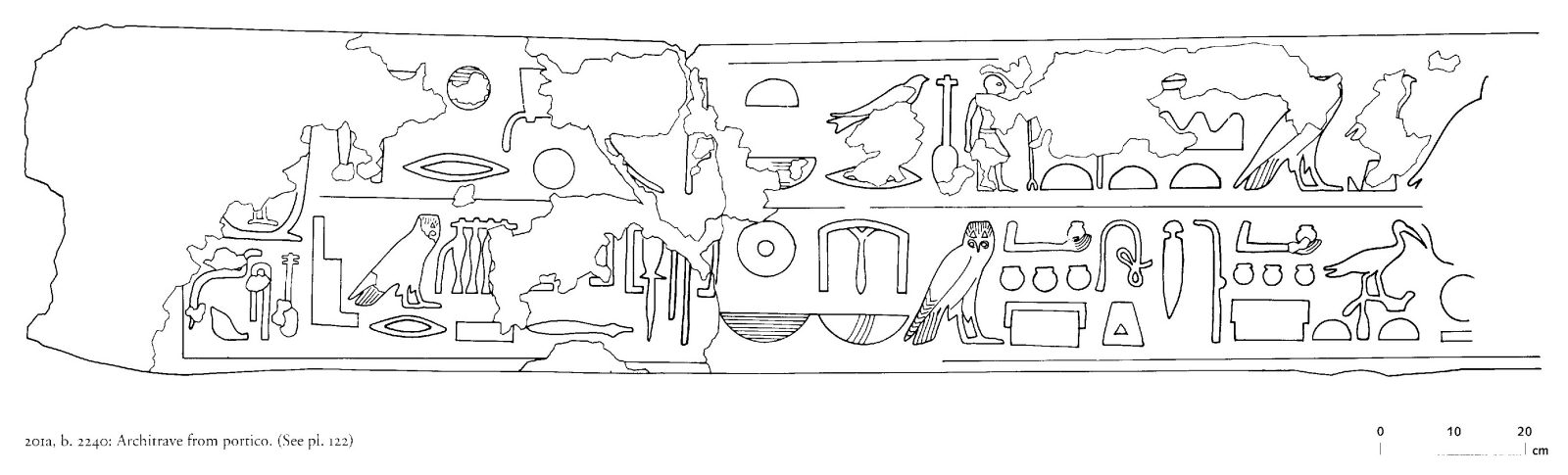 Drawings: G 2240: relief from portico, architrave