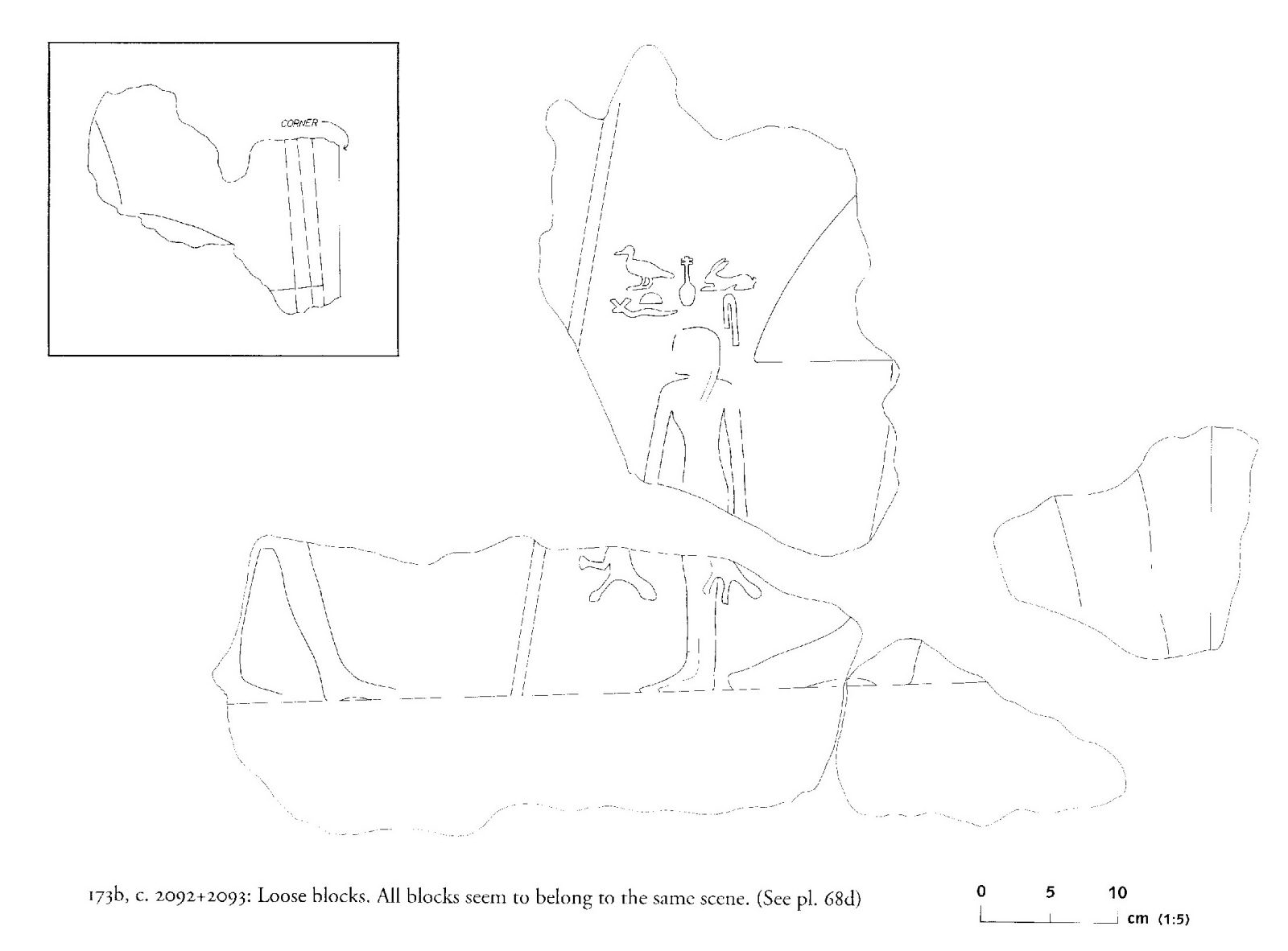 Drawings: G 2092+2093: relief from loose blocks