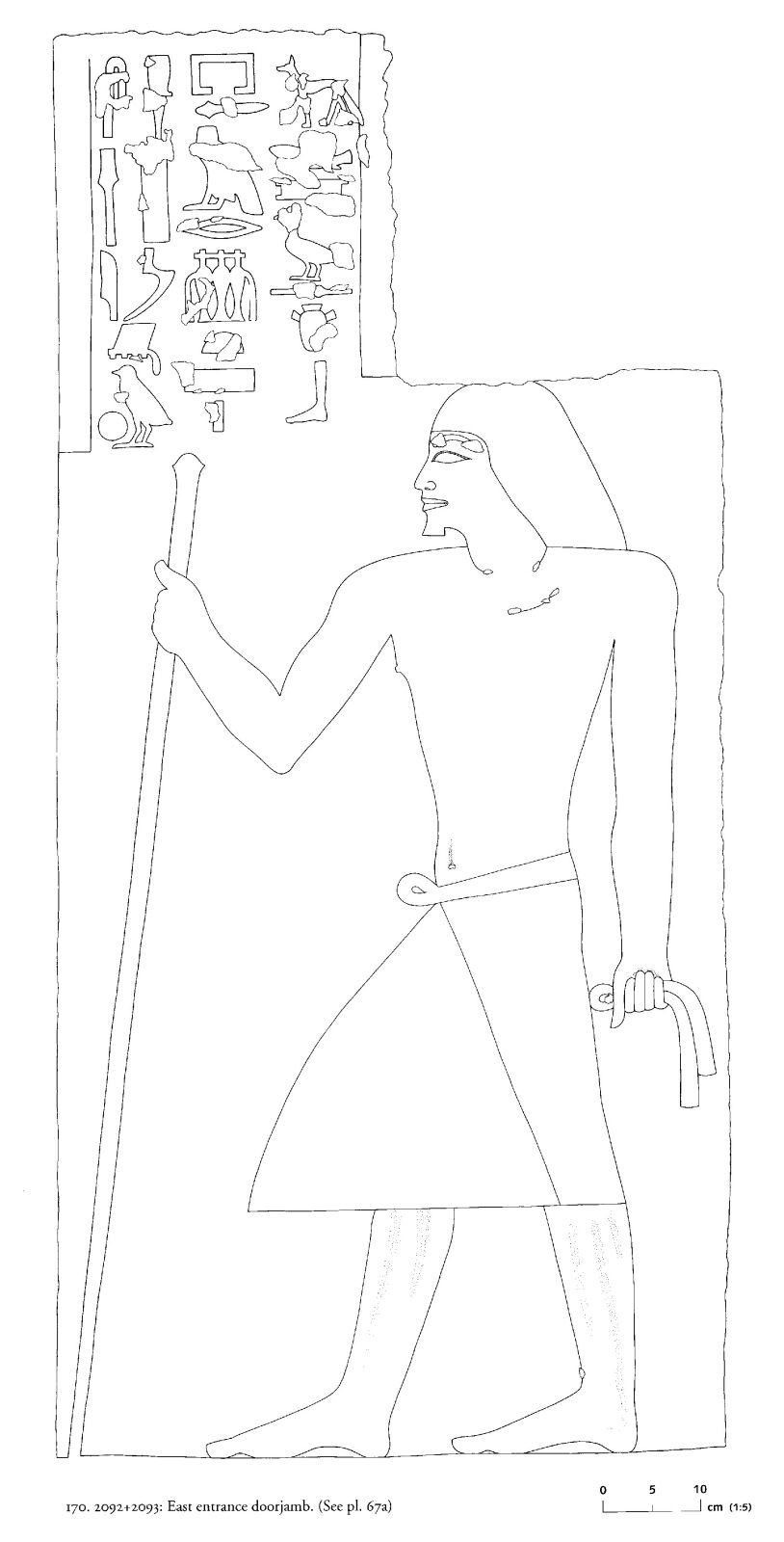 Drawings: G 2092+2093: relief from E entrance, jamb