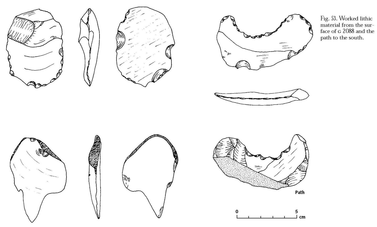 Drawings: G 2088: lithics