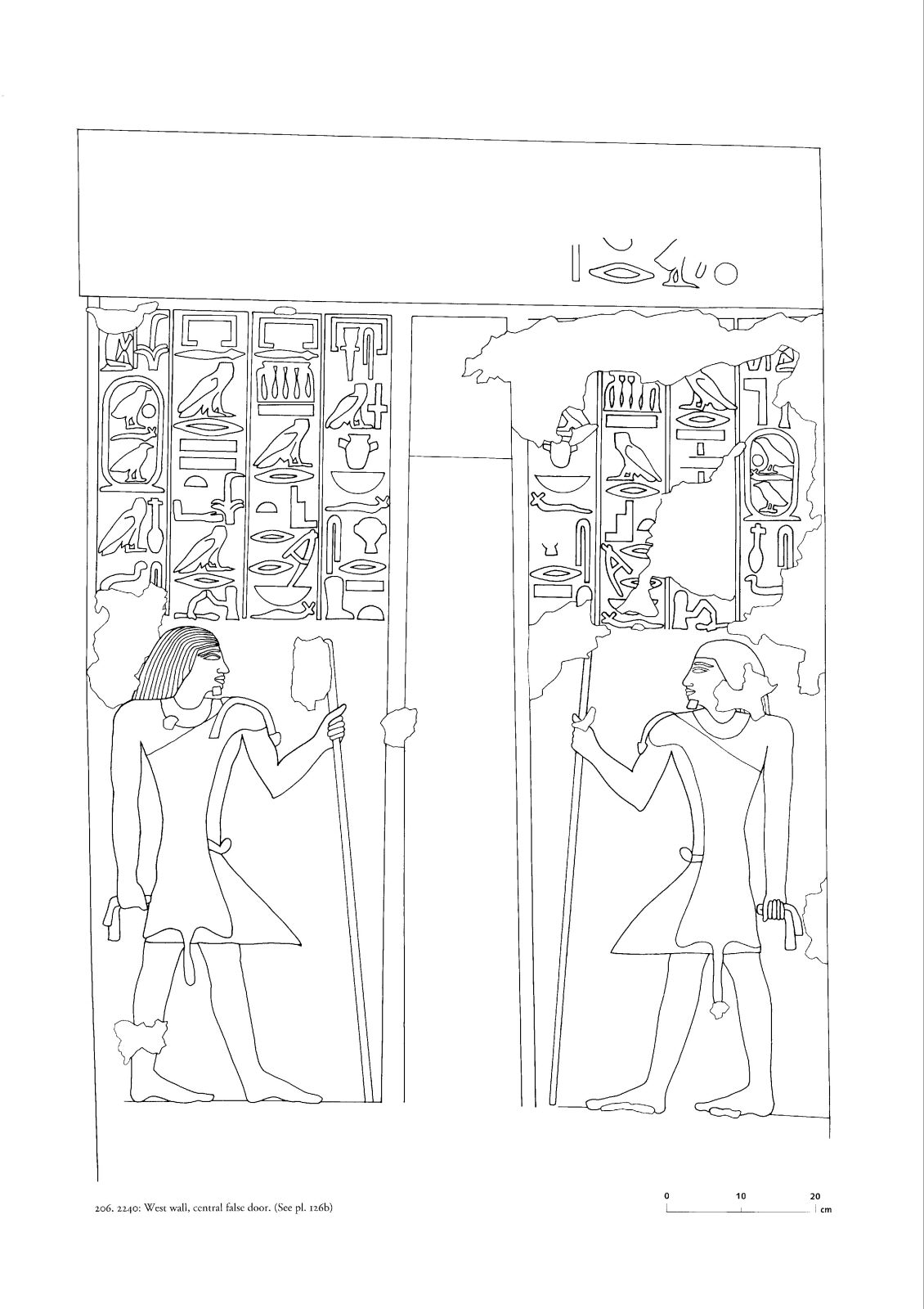 Drawings: G 2240: relief from W wall, central false door