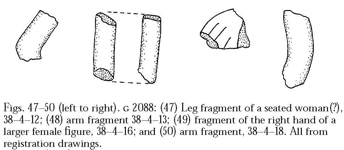 Drawings: G 2088: statue fragments