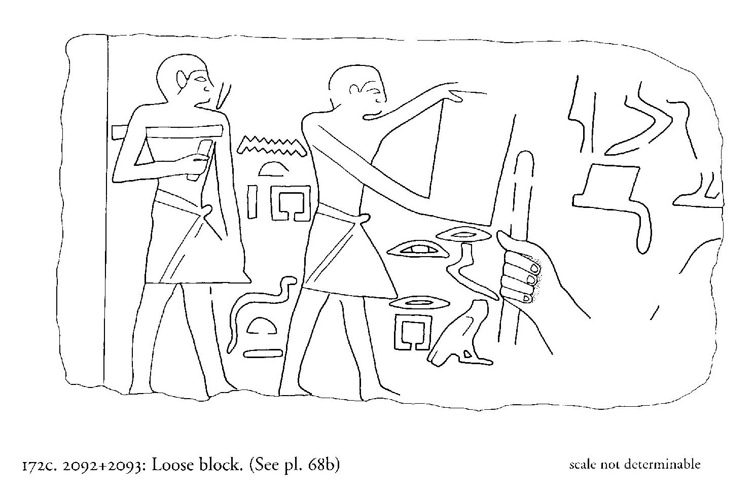 Drawings: G 2092+2093: relief from loose block