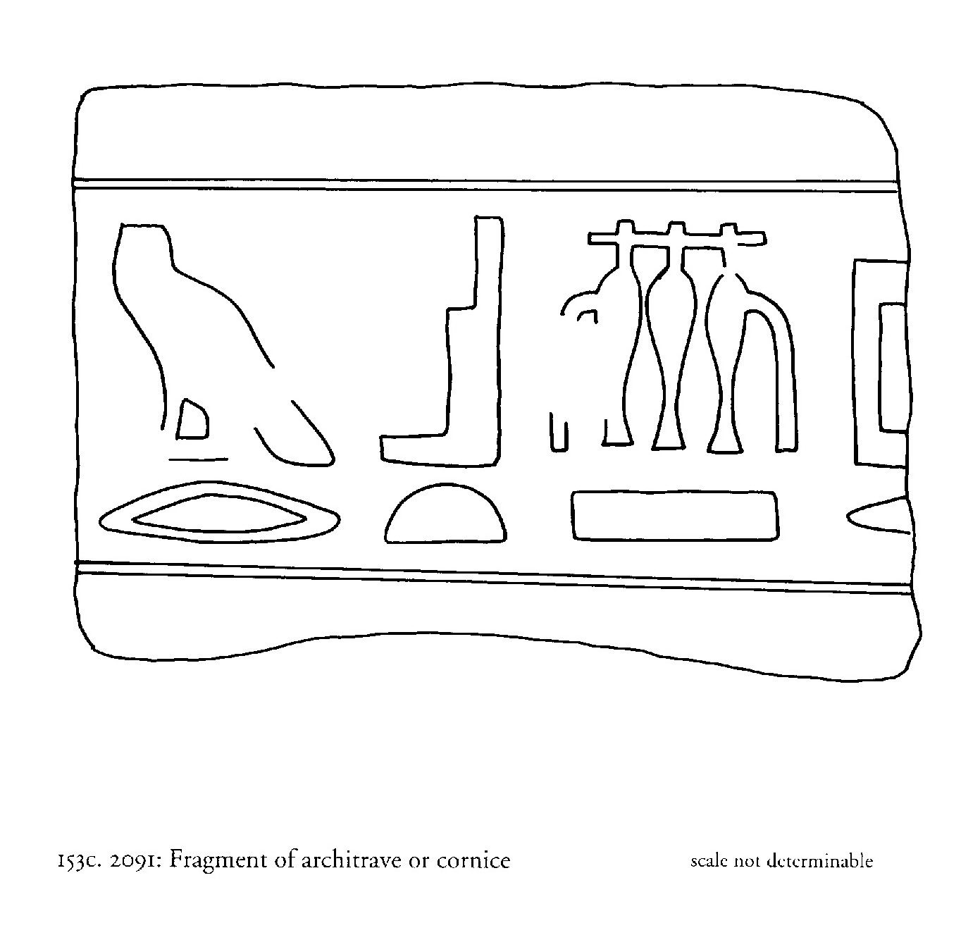 Drawings: G 2091: relief from architrave or cornice fragment