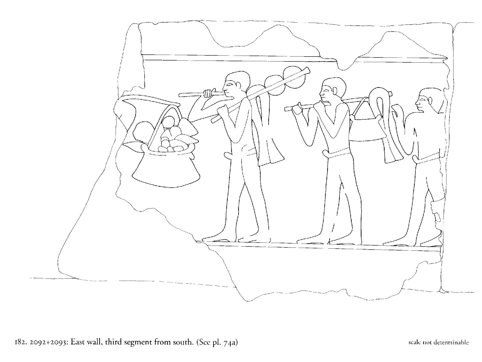 Drawings: G 2092+: relief from E wall, N enc