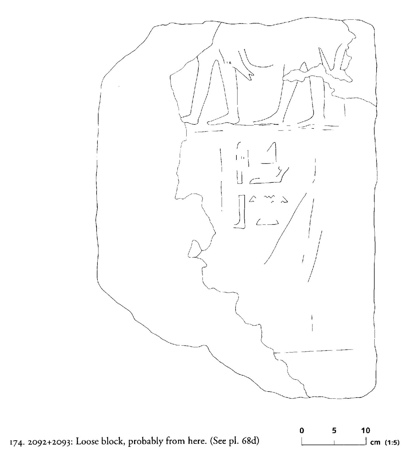 Drawings: G 2092+2093 (likely): relief from loose block