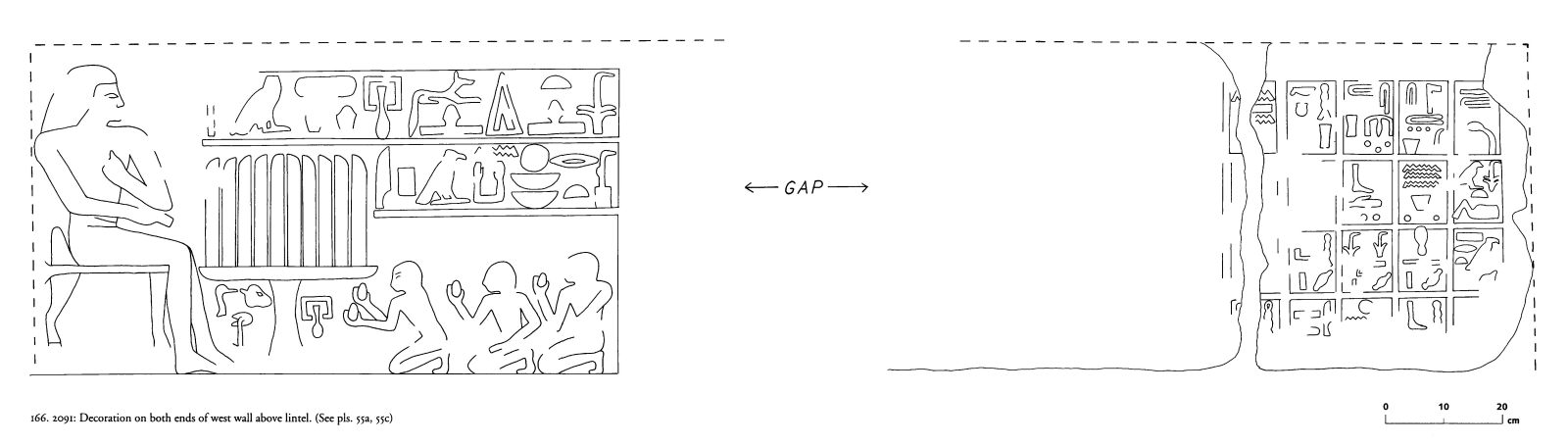Drawings: G 2091: relief from W wall, above lintel