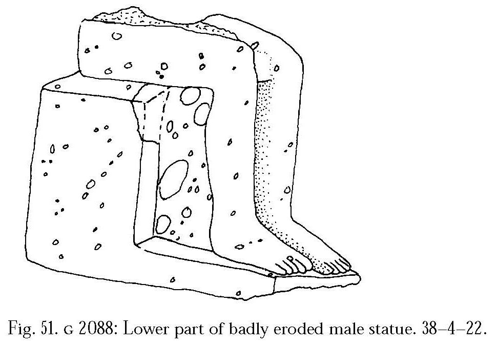 Drawings: G 2088: statue, seated, lower part