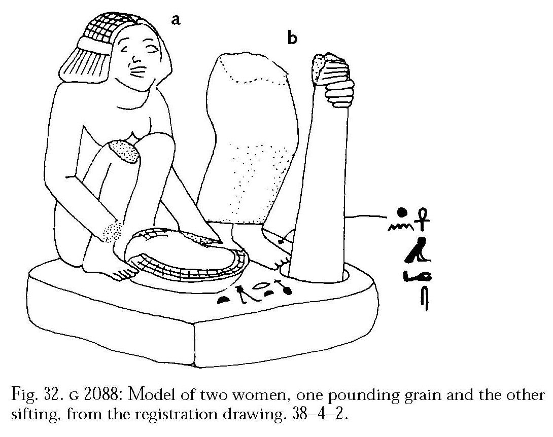 Drawings: G 2088: statue (serving statue) of two women