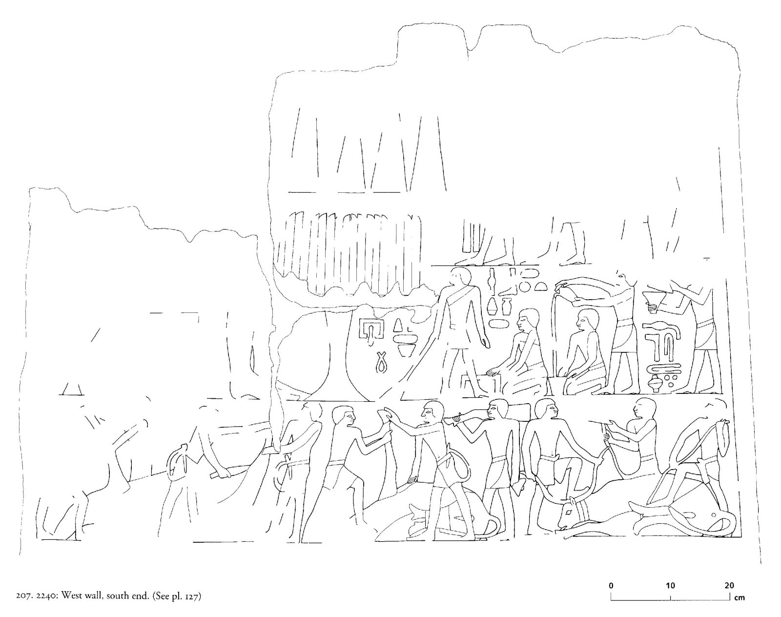 Drawings: G 2240: relief from W wall, S end