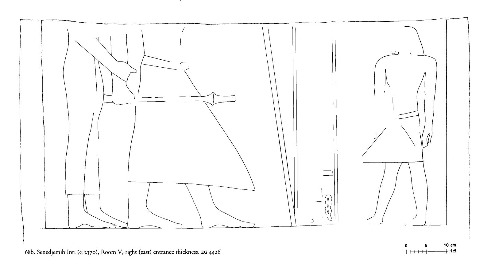 Drawings: G 2370: relief from Room V, E entrance thickness