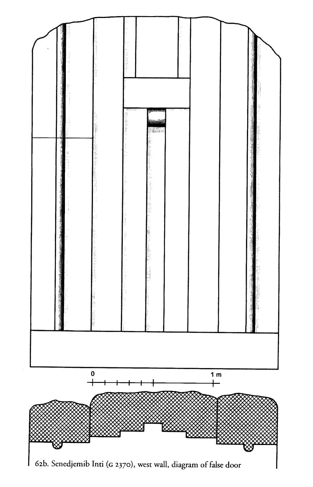 Drawings: G 2370, Plan and elevation of false door