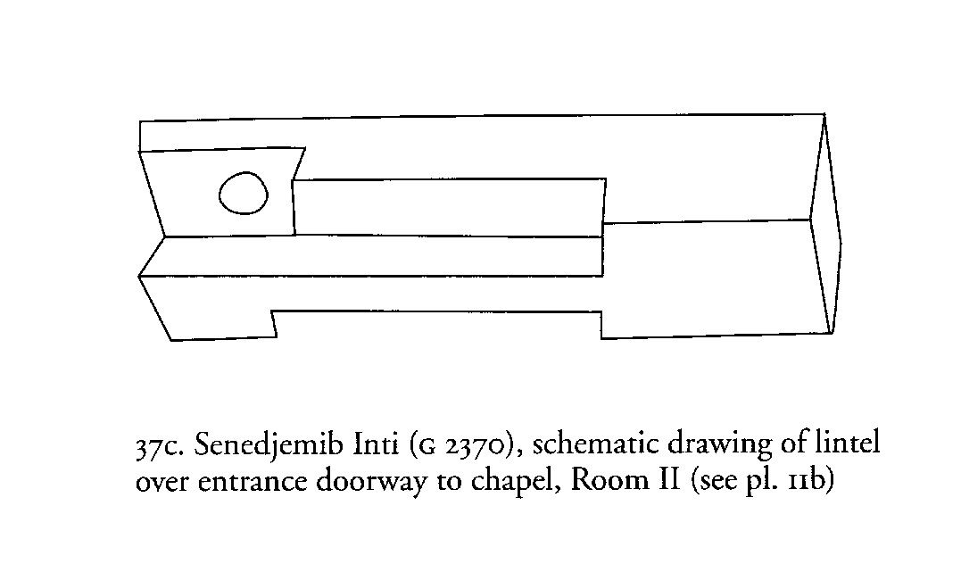 Drawings: G 2370, Drawing of chapel, Room II, lintel over entrance