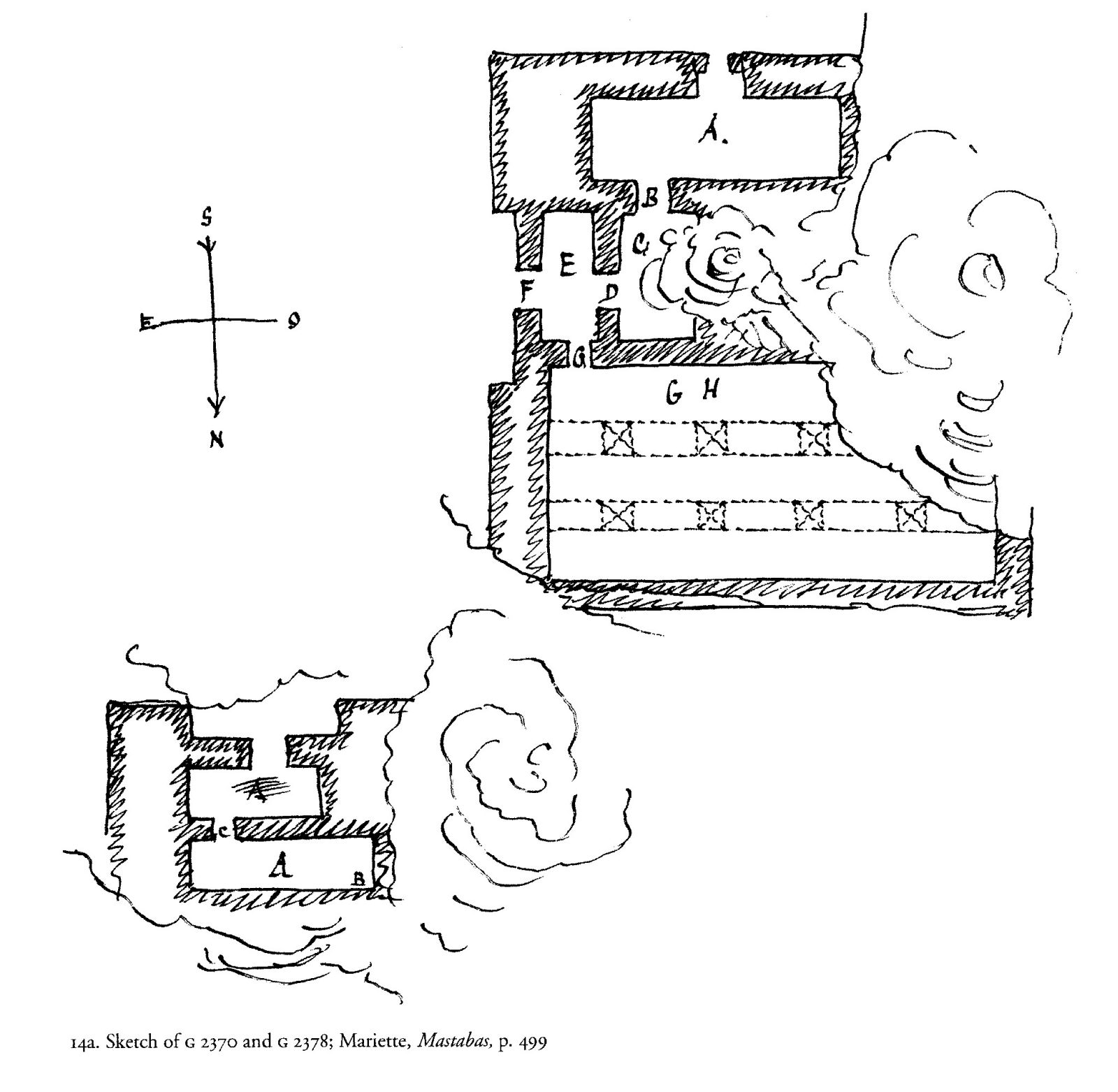 Maps and plans: Plans of G 2370 and G 2378