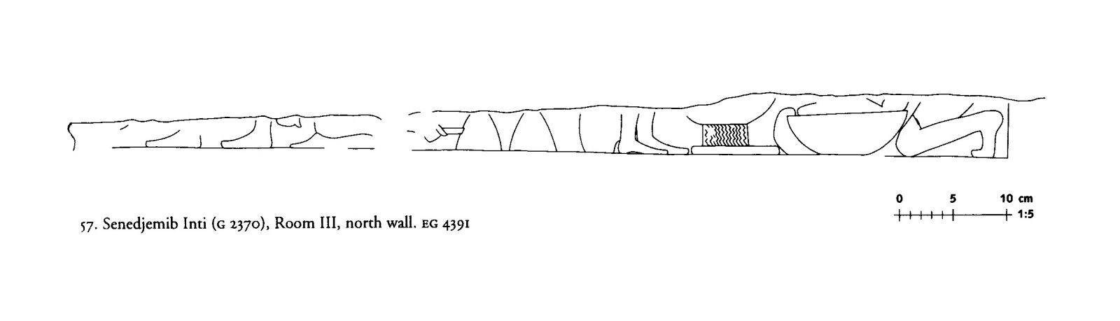 Drawings: G 2370: relief from Room III, N wall