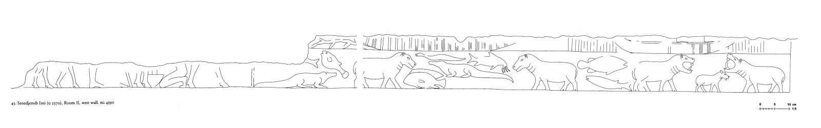Drawings: G 2370: relief from Room III, W wall