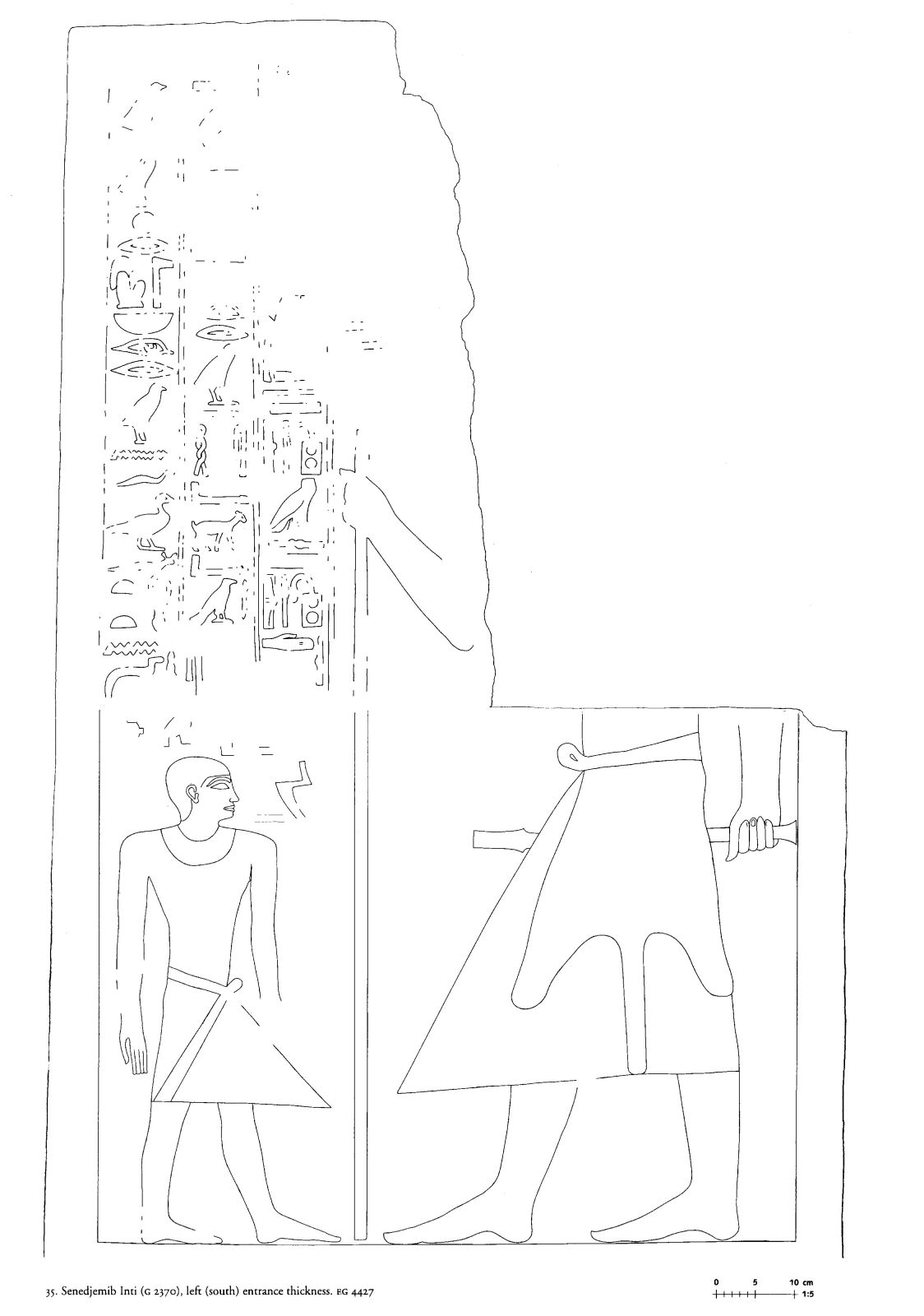 Drawings: G 2370: relief from Room II, S entrance thickness