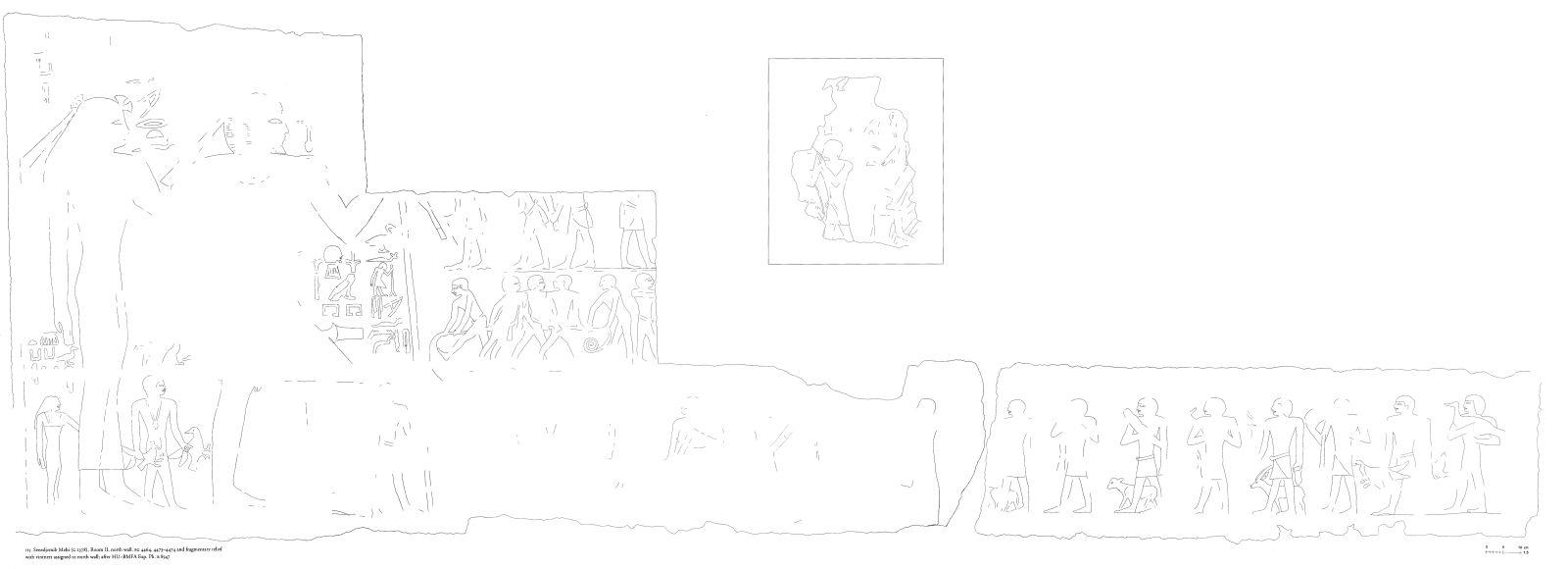 Drawings: G 2378: relief from Room II, N wall, vintners