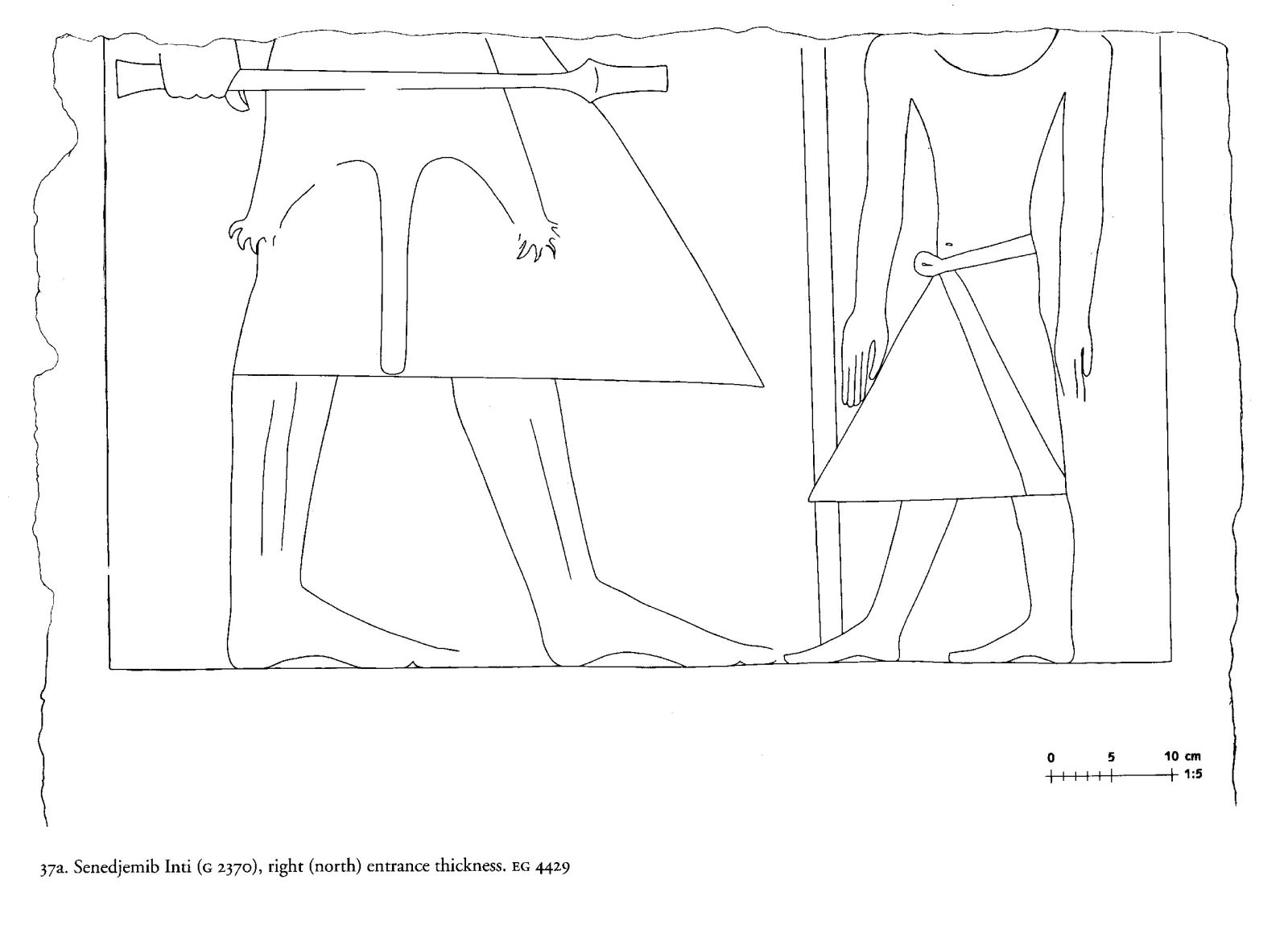 Drawings: G 2370: relief from Room IV, N entrance thickness