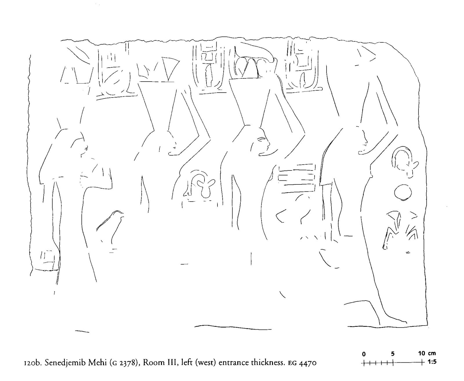 Drawings: G 2378: relief from Room III, W entrance thickness
