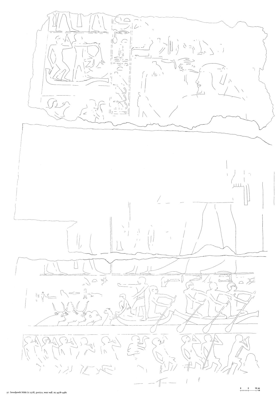 Drawings: G 2378: relief from portico, W wall