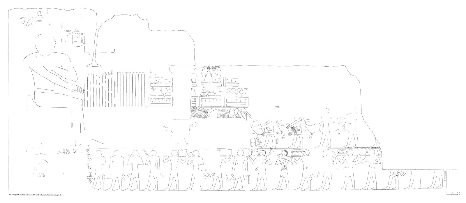 Drawings: G 2370: relief from Room IV, N wall, W of entrance