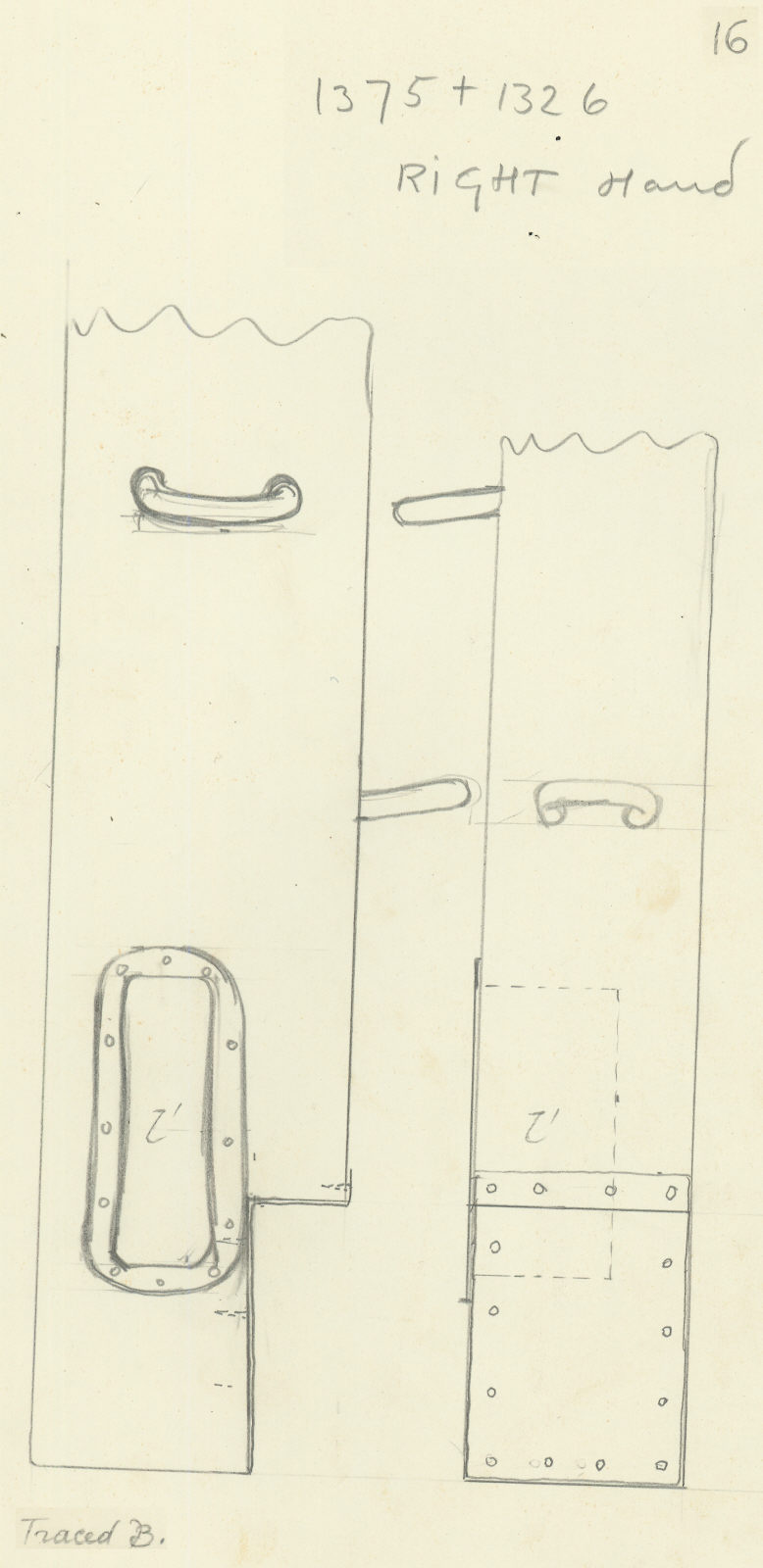 Drawings: G 7000 X: bed canopy, roof beam, back