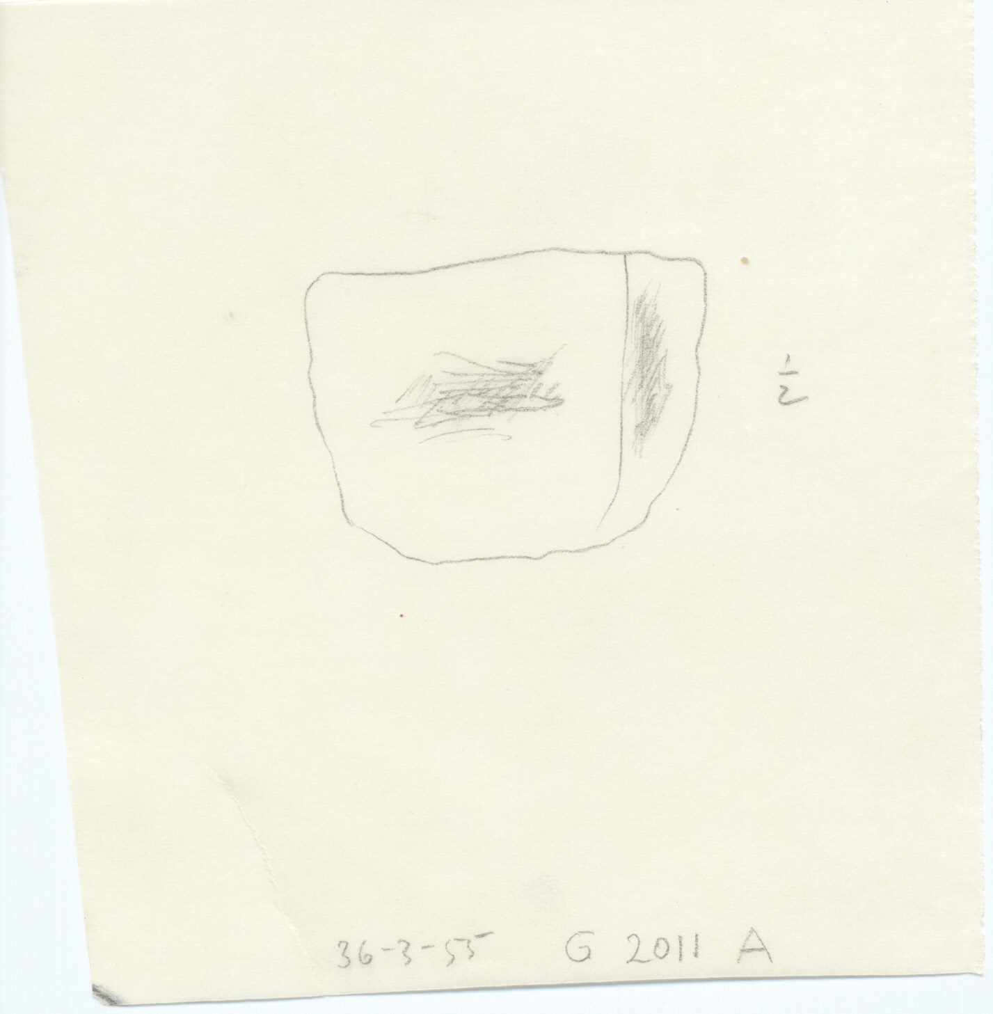 Drawings: G 2011, Shaft A: whetstone