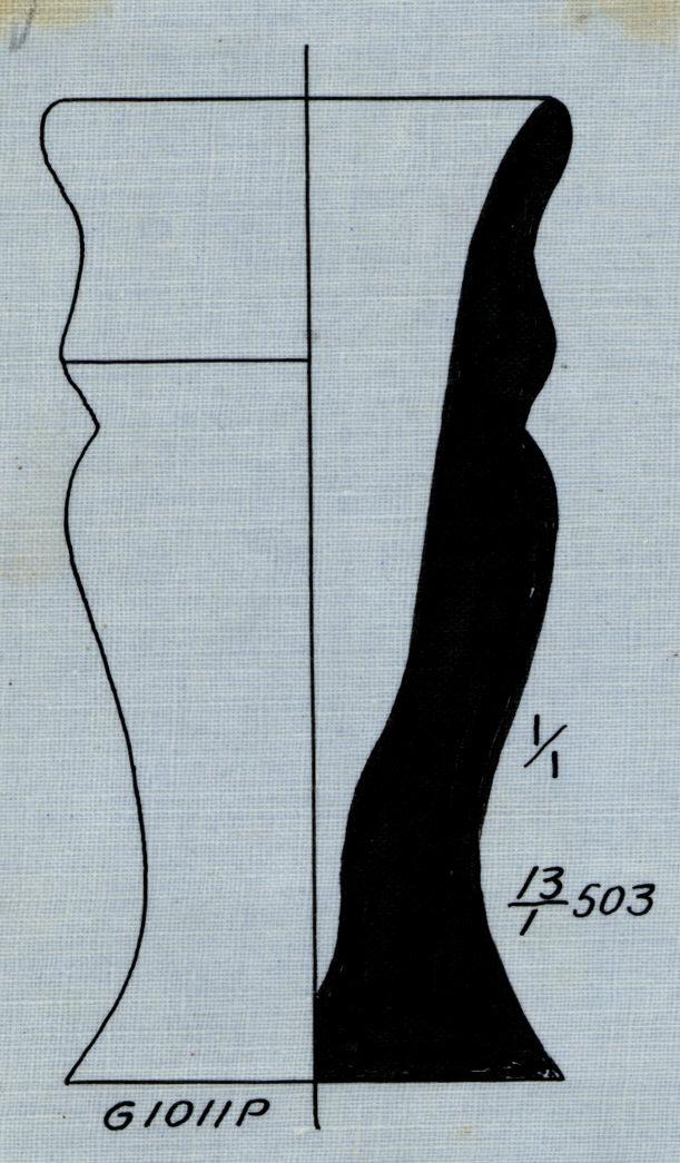 Drawings: G 1011, Shaft P: pottery, model jar