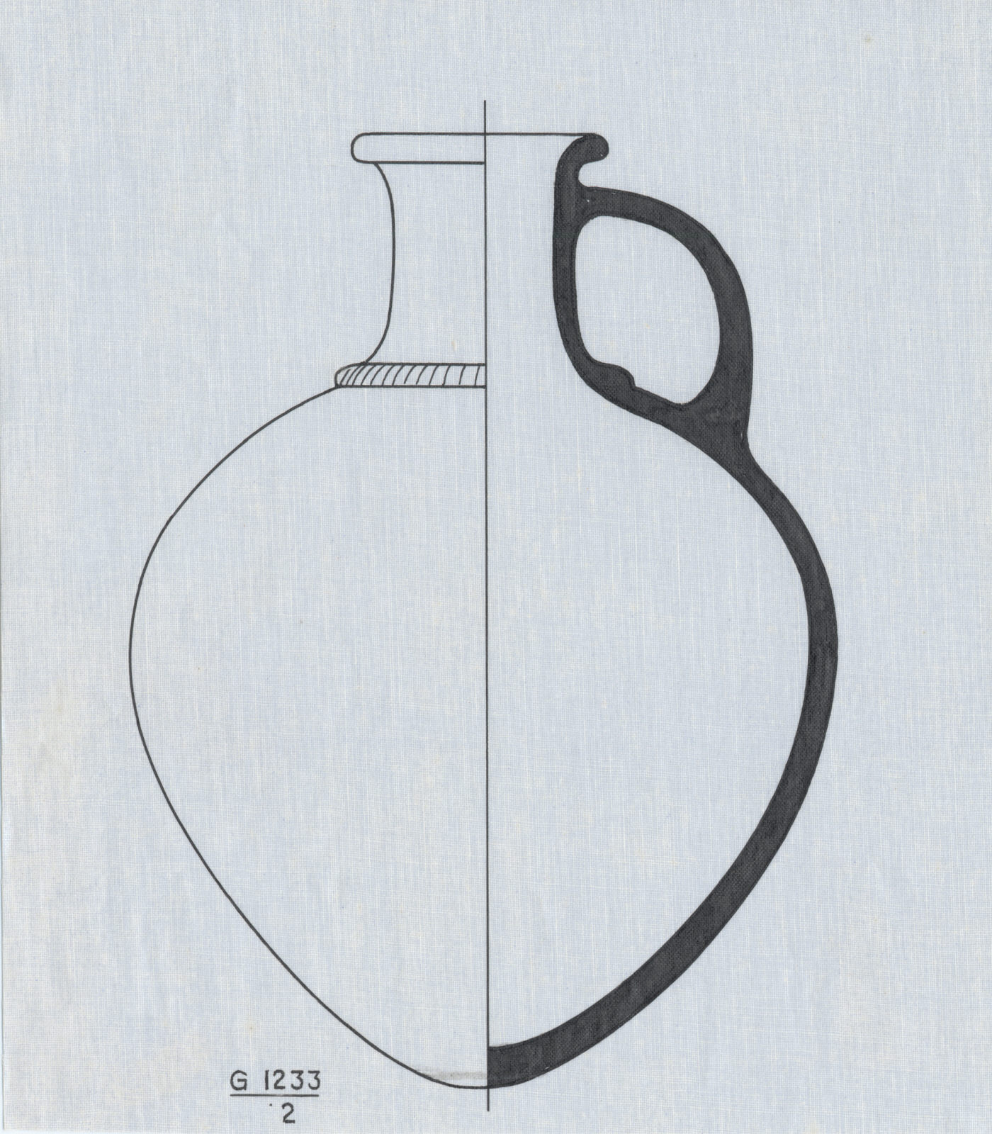 Drawings: G 1233-Annex: pottery, jar with handle