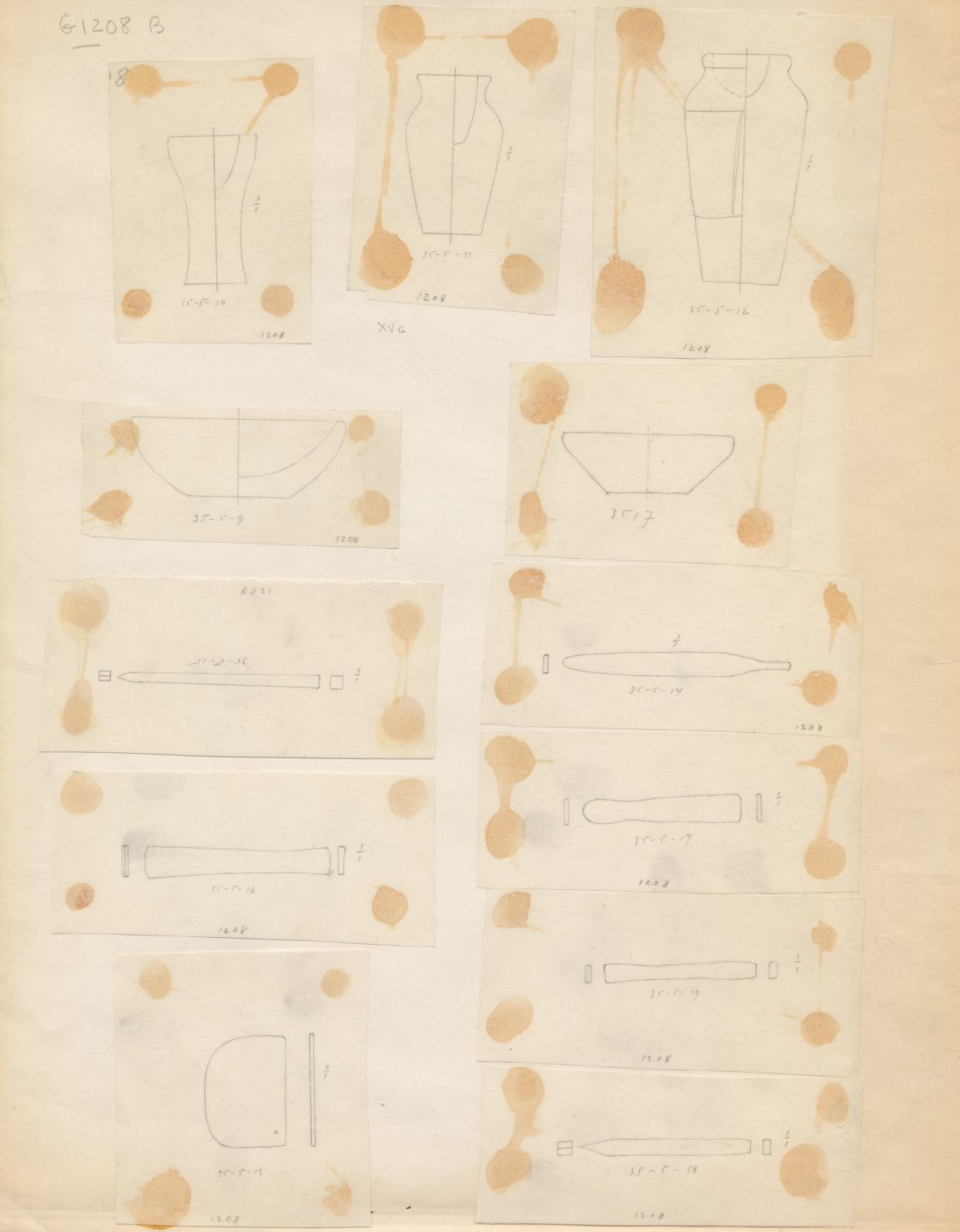 Drawings: G 1208, Shaft B: objects