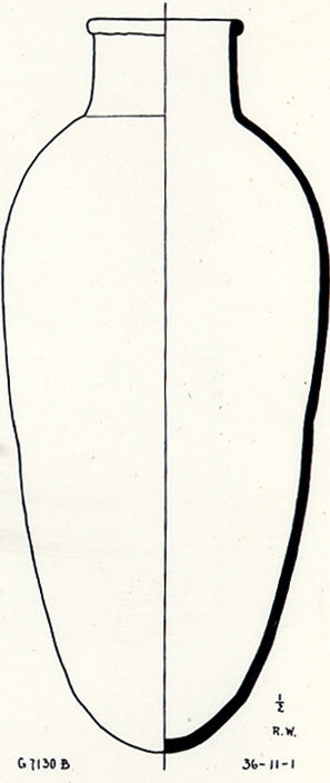 Drawings: G 7130, Shaft B: pottery, jar