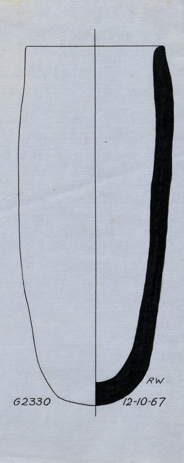 Drawings: G 2330 (= G 5380), Shaft A: pottery, jar
