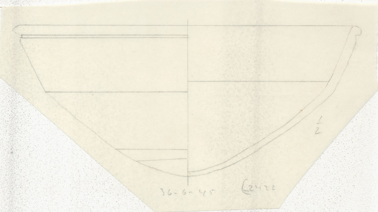 Drawings: G 2422, Shaft A: pottery, carinated bowl