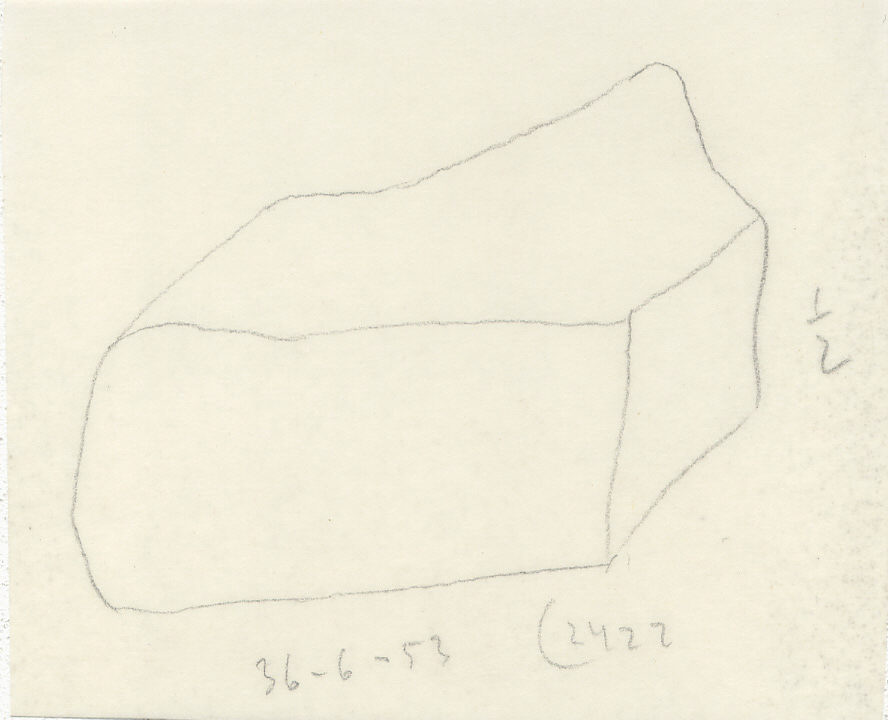 Drawings: G 2422, Shaft E: whetstone, sandstone