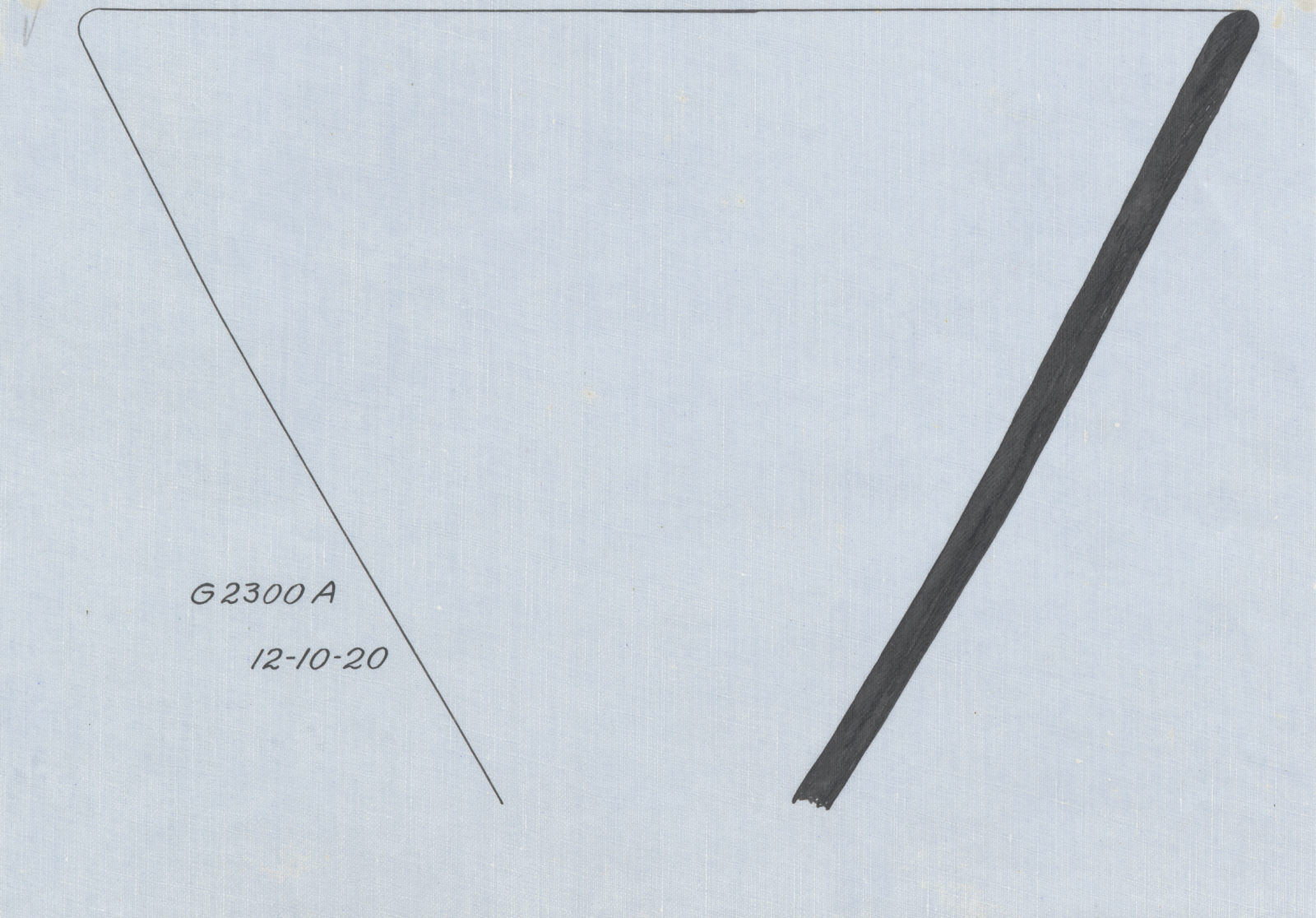 Drawings: G 2300 (= G 5190), Shaft A: pottery, bowl with flaring sides