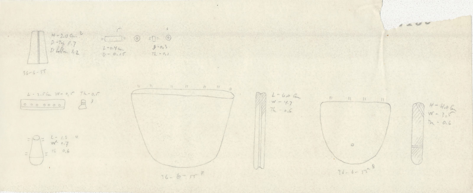 Drawings: G 2422, Shaft D: jewelry elements and beads, faience