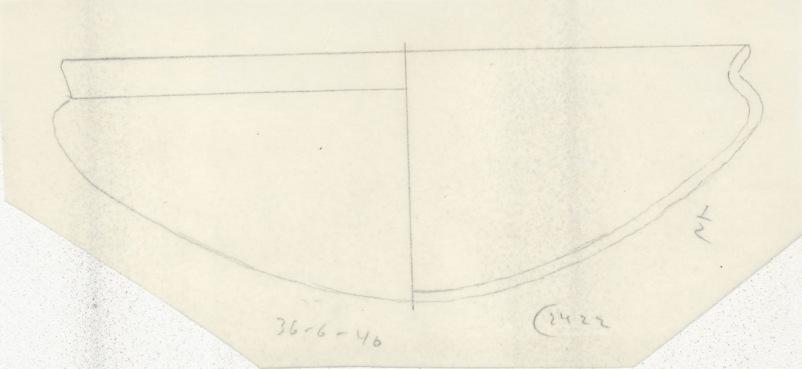 Drawings: G 2422, Shaft A: pottery, bowl with recurved rim