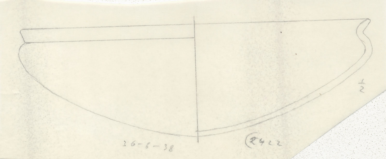 Drawings: G 2422, Shaft A: bowl with recurved rim