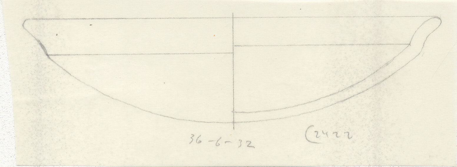 Drawings: G 2422, Shaft A: pottery, bowl